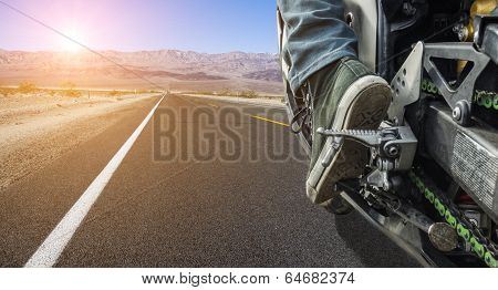 motorbike on the street