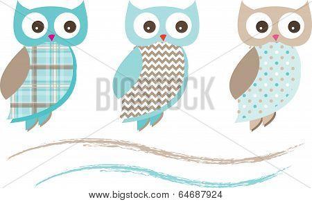 Cute Owl Vectors 3