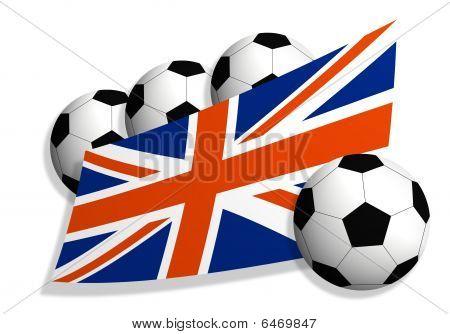 Soccer Balls & United Kingdom Flag