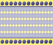 Optical illusion with violet and yellow rhombuses which increase at focusing poster