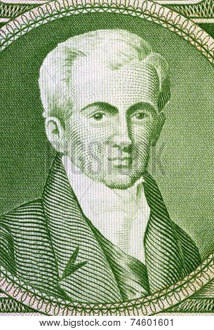 GREECE - CIRCA 1945: Ioannis Kapodistrias on 500 Drachmai 1945 Banknote from Greece.First head of state of independent Greece after the revolution against the Ottoman Empire.