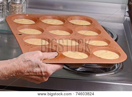 Making Cornbread Muffins