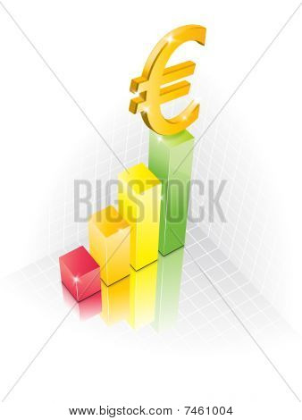 3D Euro Chart illustraction