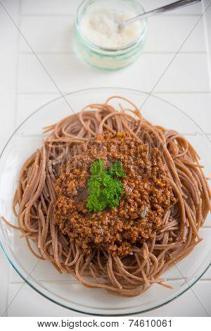 Whole Grain Spaghetti Bolognese