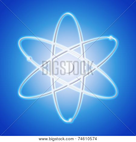 Atom icon - the symbol of science poster