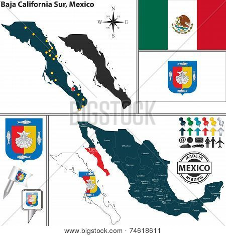 Map Of Baja California Sur, Mexico