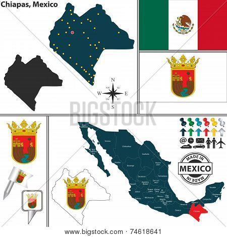 Map Of Chiapas, Mexico