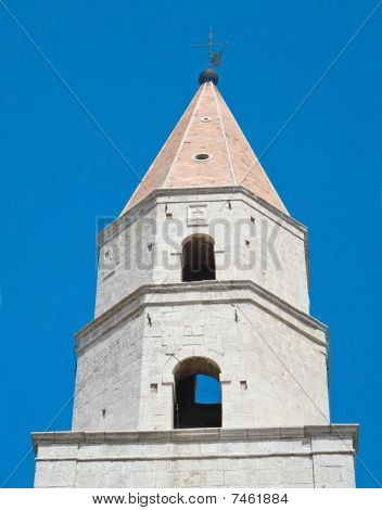 Bell tower of St Andrew Cathedral. Venosa. Basilicata.