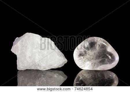 Quartz Crystal, Uncut And Tumble Finishing