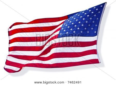 Silhouette of The American Flag