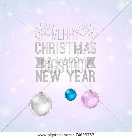 Christmas Background With Fancy Lettering
