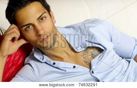handsome dark-haired man