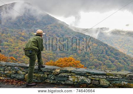 Shenandoah National Park in Autumn foliage, Virginia USA