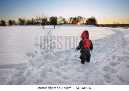 Child In Front Of One Of Life Many Choices