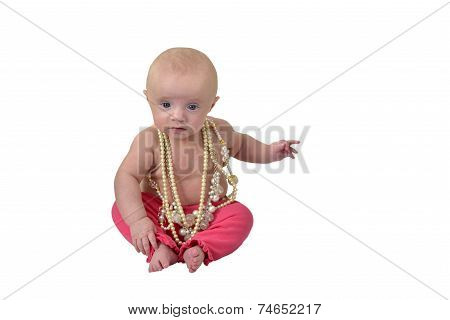 Baby With Necklaces