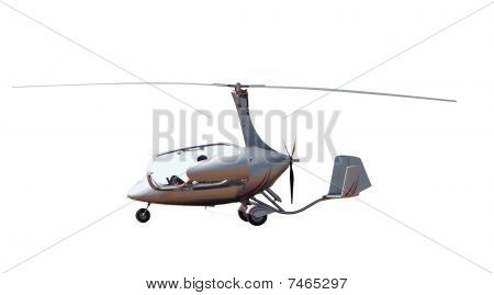 Gyrocopter With Open Canopy