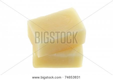 2 Bars of Camphor soap, isolated on white
