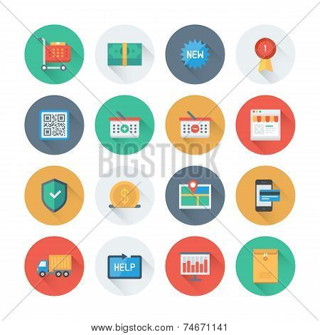 Pixel Perfect E-commerce Flat Icons