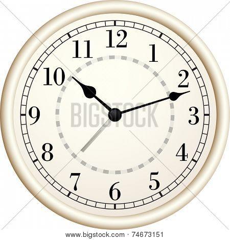 Old clock.Vector illustration.