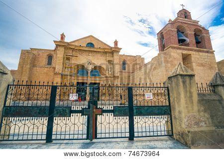 Cathedral of Santa María la Menor in the Colonial Zone of Santo Domingo Dominican Republic