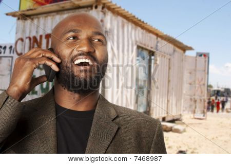 Smiling township businessman