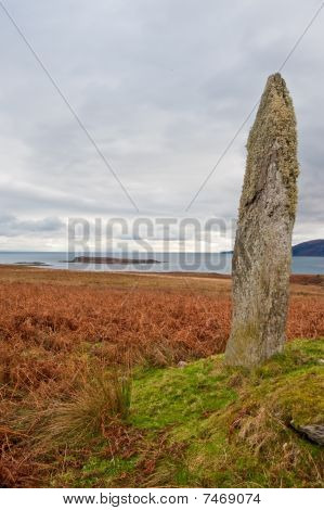 Standing stone and field