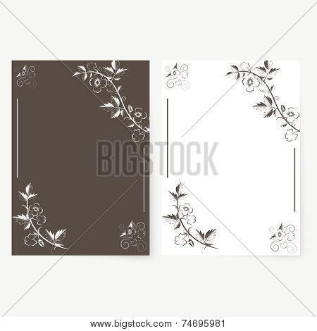 Vector template for folder, brochure, business card and birthday invitation. poster