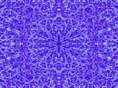 A winter ice cold blue kaleidoscope pattern poster
