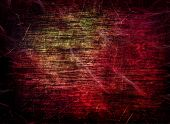 Red grungy scratched texture as abstract background. Digitally generated image. poster