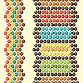 Ethnic African beads abstract color seamless pattern. poster