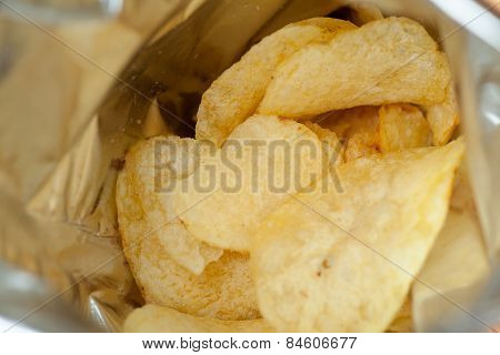 Opened Pack Potato Chips