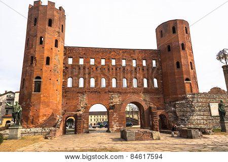The Porta Palatina in Turin