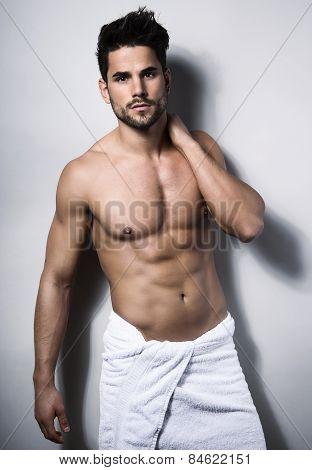 handsome young bodybuilder