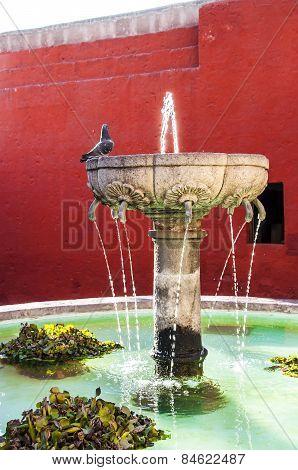 Santa Catalina fountain in Arequipa monastery