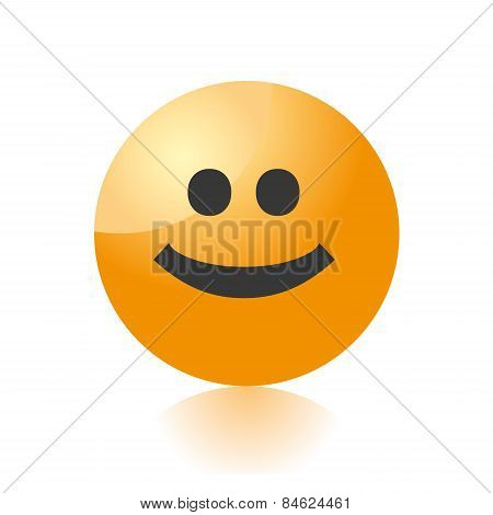 smile emo icon vector