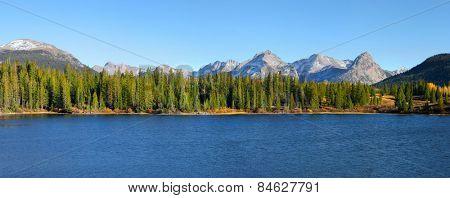 Panoramic view of scenic Molas lake in colorado