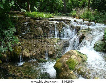 water through the mountain road