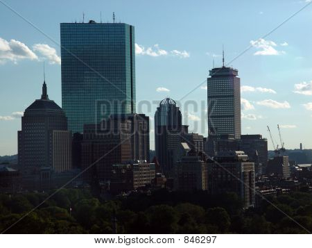 Sunny Boston Skyline