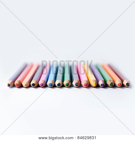 Many Different Colored Pencils