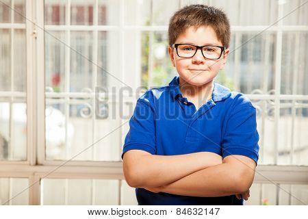 Happy Kid With Glasses