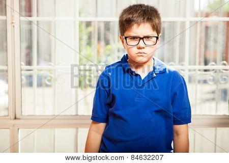 Very Displeased Little Boy