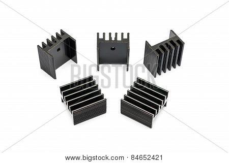 Black Aluminium Heat Sinks