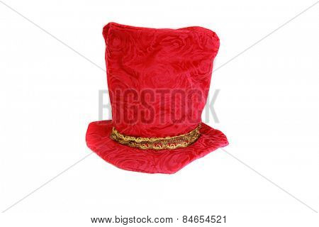 Fun and Funny Hat aka Mad Hatter Hat isolated on white. room for your text