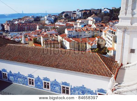 Monastery of Sao Vicente de Fora roof view