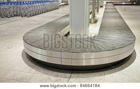 Empty baggage belt at the airport