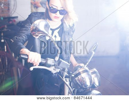Woman With Chopper