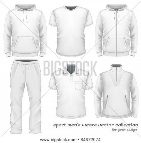 Sport men's wear collection. Vector illustration