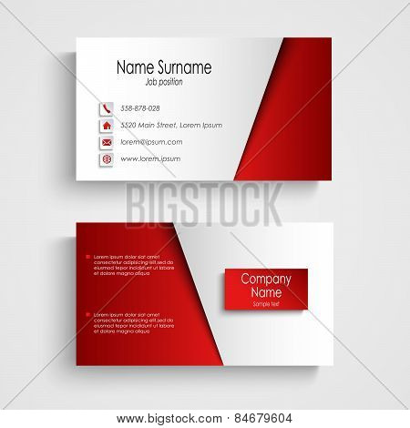 Modern Light Red Business Card Template