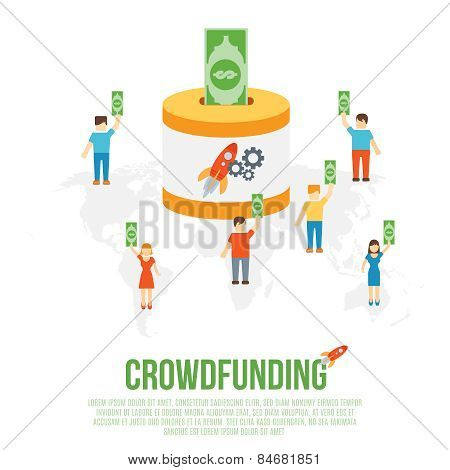 Crowdfunding Business Concept