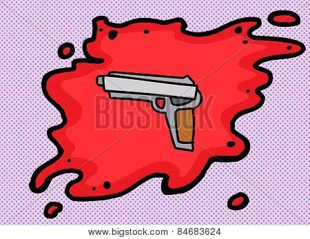 Single Pistol In Blood